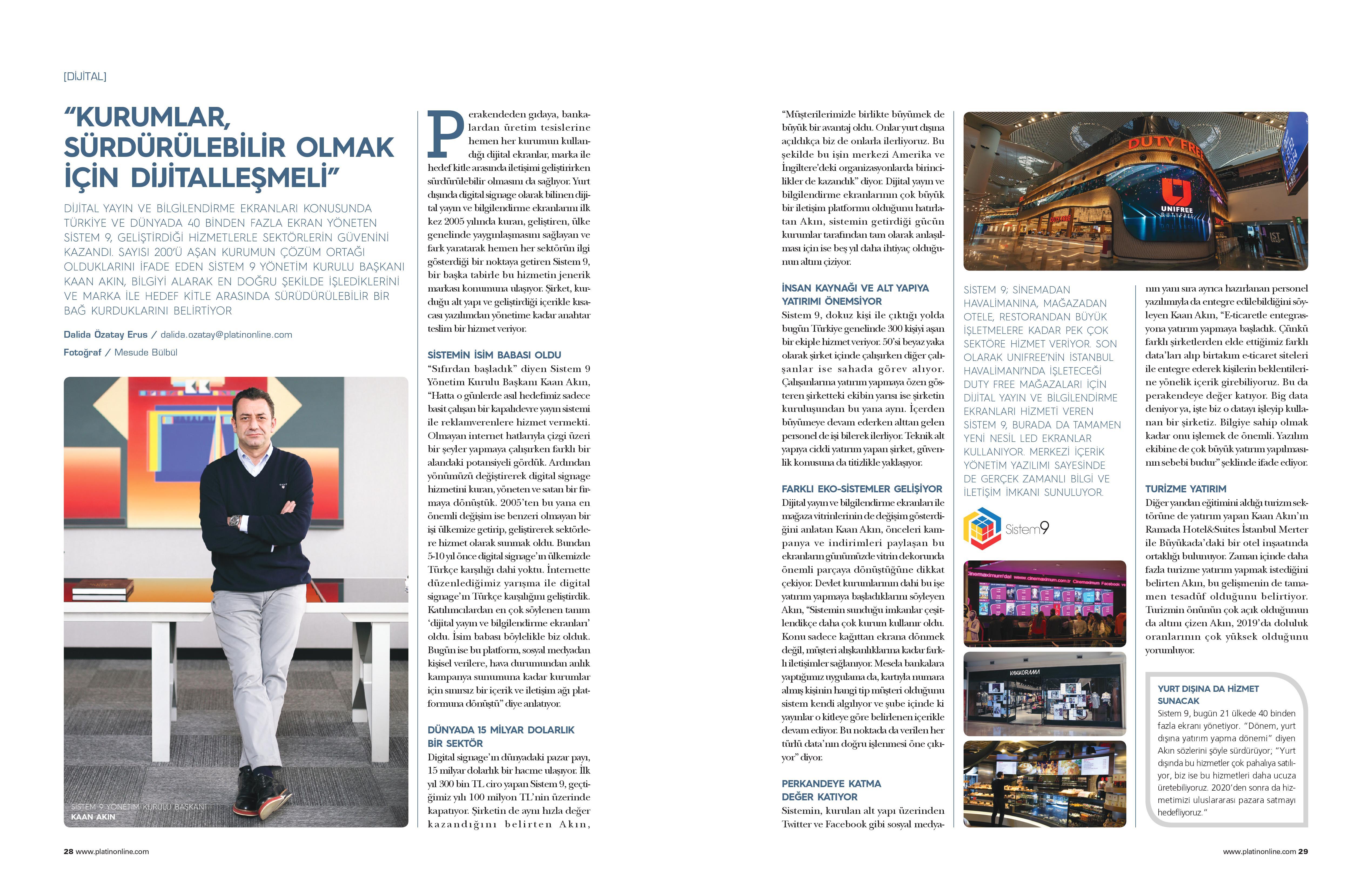 Platin Dergisi Nisan